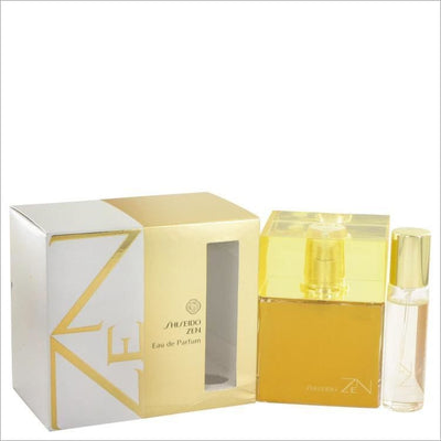 Zen by Shiseido Eau De Parfum Spray with .5 oz Mini EDP Spray 3.4 oz for Women - PERFUME