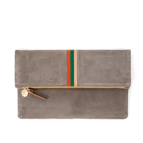 Foldover Clutch Dark Grey