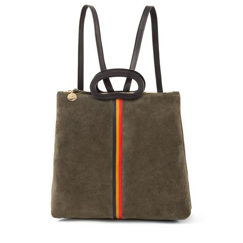 Marcelle Backpack in Army Suede