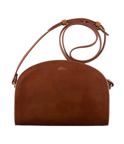Half-moon bag in Chestnut Brown