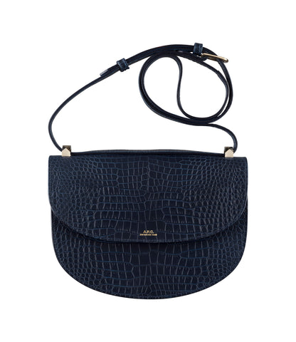 Genève bag in Marine (croc-embossed leather)