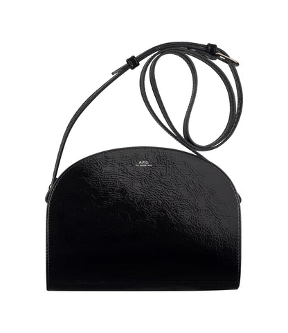 Half-moon bag in Black Patent