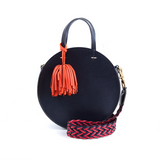 Crossbody Strap Red & Navy Braided