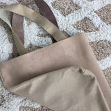 Tote in Light Gold/ Nude