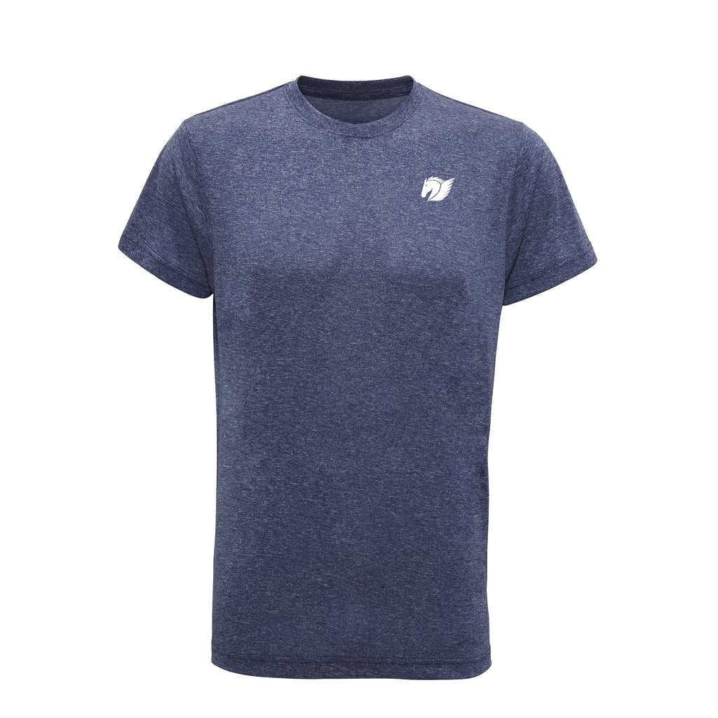 Performance Tee - Blue Melange