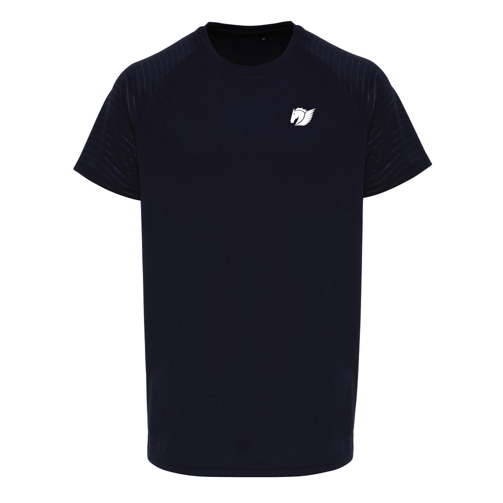 Embossed Sleeve Training Tee - French Navy