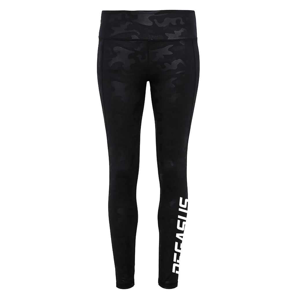 Performance Leggings - Black Camo
