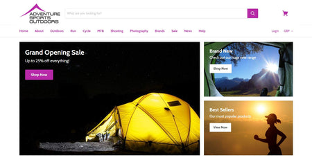 Adventure, Sports & Outdoors - New Website Launch!