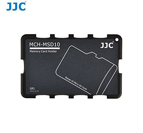 JJC 'MCH-MSD10GR' Memory Card Holder - 10MSD-SD Card Holder-JJC-PanzerCases