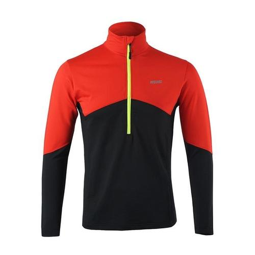 Arsuxeo Men's Long Sleeve Thermal Running Top-Running Jersey-Arsuxeo-Red-S-PanzerCases