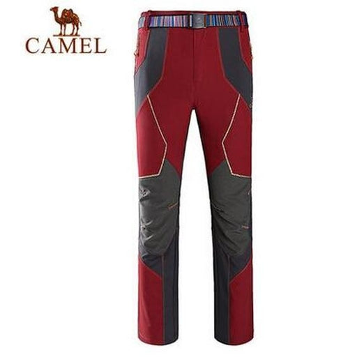 Camel Outdoor 'Altai' Men's Softshell Pants-Outdoor Trousers-Camel Sports-Maroon-S-PanzerCases