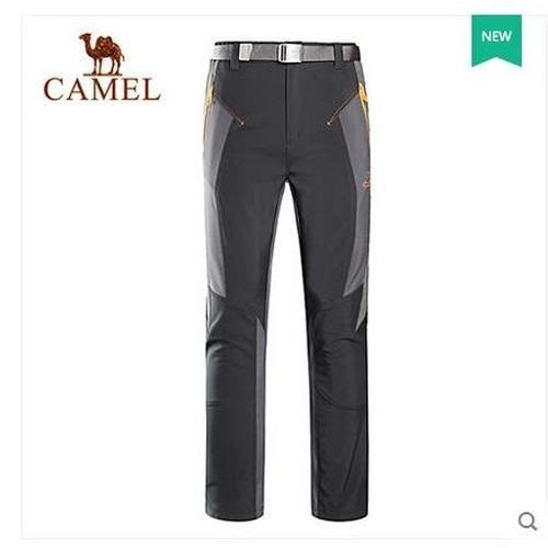 Camel Outdoor 'Pamir' Men's Softshell Pants-Outdoor Trousers-Camel Sports-Black-XS-PanzerCases