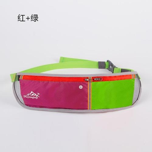 Huwai Lightweight Running Waist Bag-Running Waist Bag-Huwai-Red & Green-Other-PanzerCases