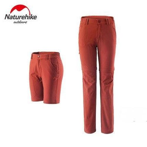 Naturehike Quick-drying Detachable Hiking Pants-Outdoor Zip-off Trousers-Naturehike-Red-S-Women-PanzerCases