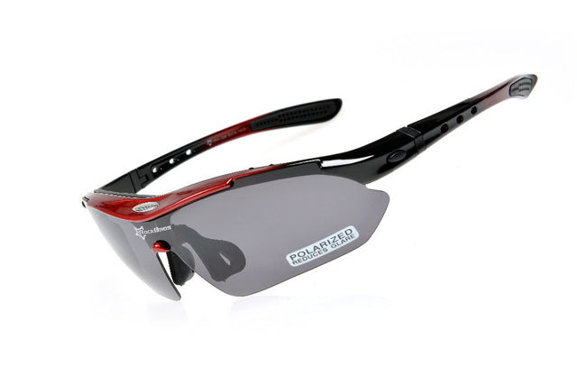ROCKBROS '10001' Polarised Cycling Glasses-Sunglasses-Rockbros-Red-China-PanzerCases