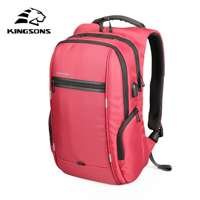 Kingsons 'City Elite' Laptop Backpack-Camera Bags-Kingstons-Model A Red-China-15 Inch-PanzerCases