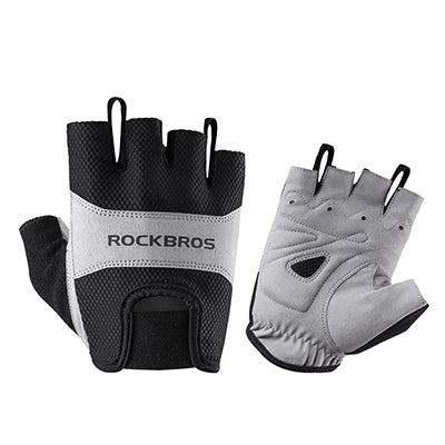 ROCKBROS Model S108 Half-Finger Cycle Glove-Bike Gloves-RockBros-Black-L-PanzerCases