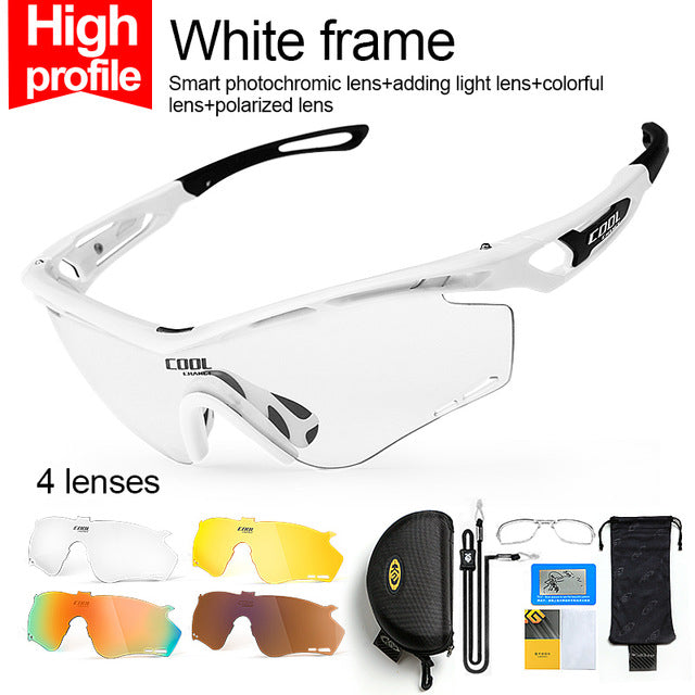CoolChange '0095' Polarised Cycling Glasses-Sunglasses-CoolChange-High profile-PanzerCases