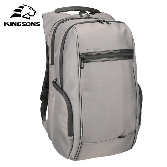 Kingsons 'City Elite' Laptop Backpack-Camera Bags-Kingstons-Model A Grey-China-13 Inch-PanzerCases