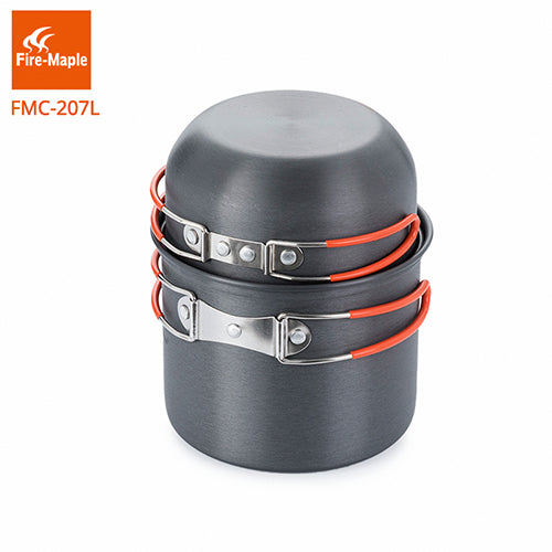 Fire-Maple Backpacking Cookware set Aluminum Alloy Pot for 1-2 Persons Light Weight 195g FMC-207L-Cookware-Fire Maple-PanzerCases