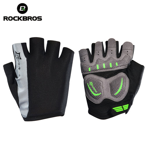 ROCKBROS Model S083BK Half Finger Cycle Glove-Bike Gloves-RockBros-PanzerCases