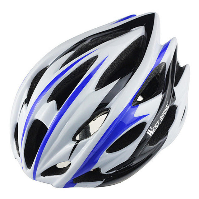 West Biking 8014-6 Lightweight Cycle Helmet-Cycle Helmet-West Biking-White Blue-PanzerCases