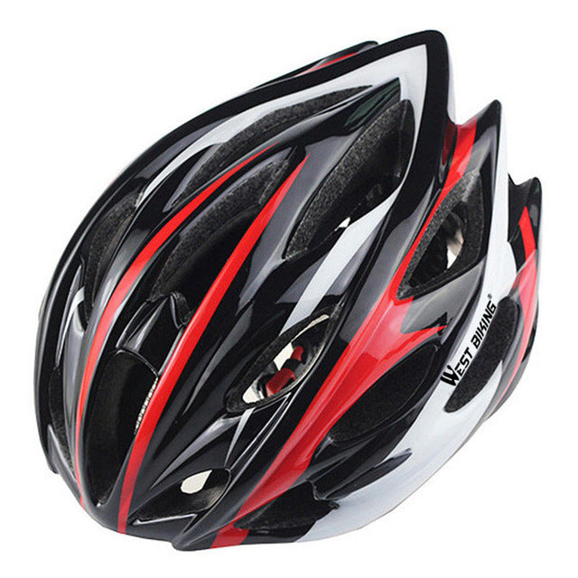West Biking 8014-6 Lightweight Cycle Helmet-Cycle Helmet-West Biking-Black Red-PanzerCases