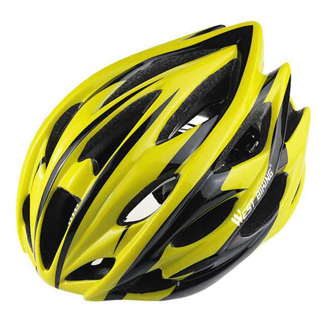 West Biking 8014-6 Lightweight Cycle Helmet-Cycle Helmet-West Biking-Yellow Black-PanzerCases