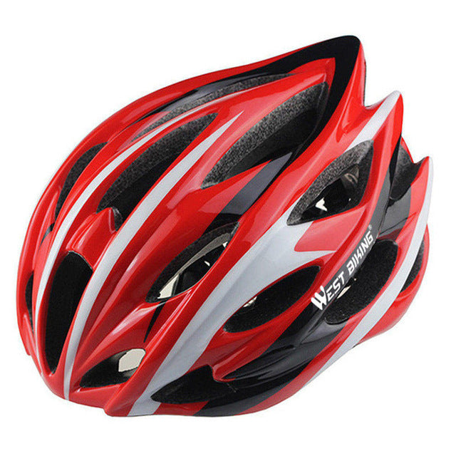 West Biking 8014-6 Lightweight Cycle Helmet-Cycle Helmet-West Biking-Red White-PanzerCases