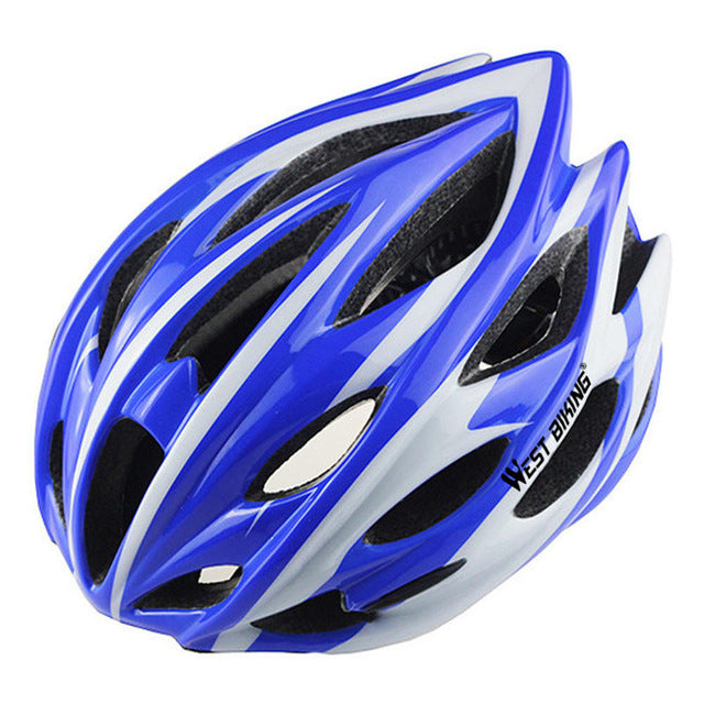 West Biking 8014-6 Lightweight Cycle Helmet-Cycle Helmet-West Biking-Blue White-PanzerCases