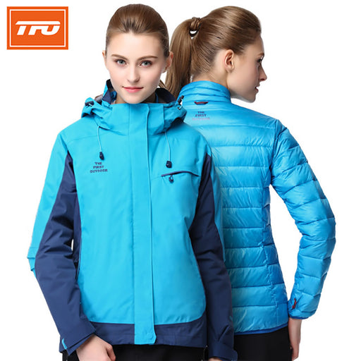 TFO 2817577 Women's Ultralight 3-in-1 Hardshell Jacket-Outdoor Jacket-The First Outdoors-PanzerCases
