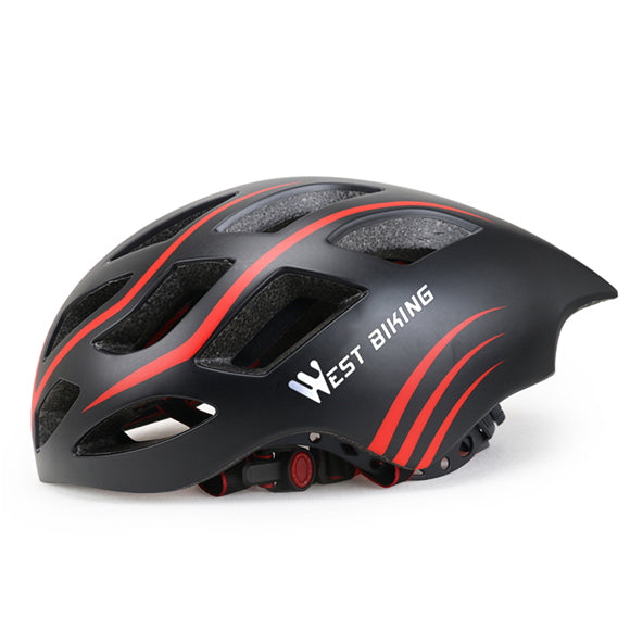 West Biking 8065 Lightweight Aerodynamic Road Cycling Helmet-Cycle Helmet-West Biking-Black Red-PanzerCases