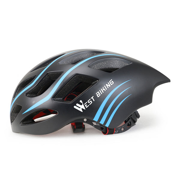 West Biking 8065 Lightweight Aerodynamic Road Cycling Helmet-Cycle Helmet-West Biking-Black Blue-PanzerCases