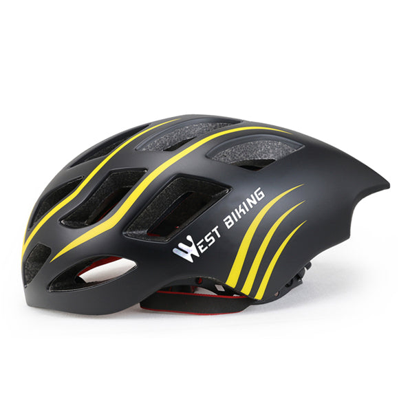West Biking 8065 Lightweight Aerodynamic Road Cycling Helmet-Cycle Helmet-West Biking-Black Yellow-PanzerCases