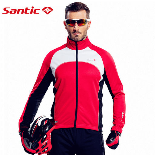 Santic 'North' Windproof Thermal Cycling Jacket-Cycle Jackets-Santic-PanzerCases