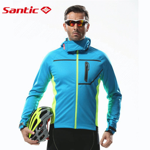 Santic 'Polar Sport' Windproof & Thermal Winter Cycling Jacket-Cycle Jackets-Santic-PanzerCases