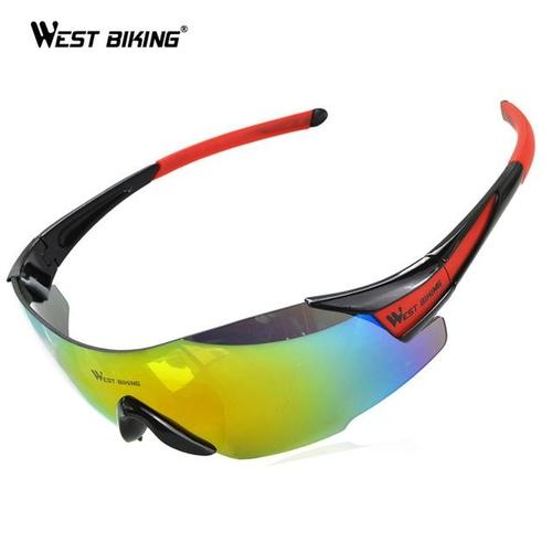 West Biking '3100A' Polarised UV400 Lightweight Pro Cycling Glasses-Sunglasses-West Biking-Red-PanzerCases