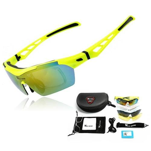 West Biking '3116A' Polarised Lightweight Sports Glasses-Sunglasses-West Biking-Yellow-PanzerCases