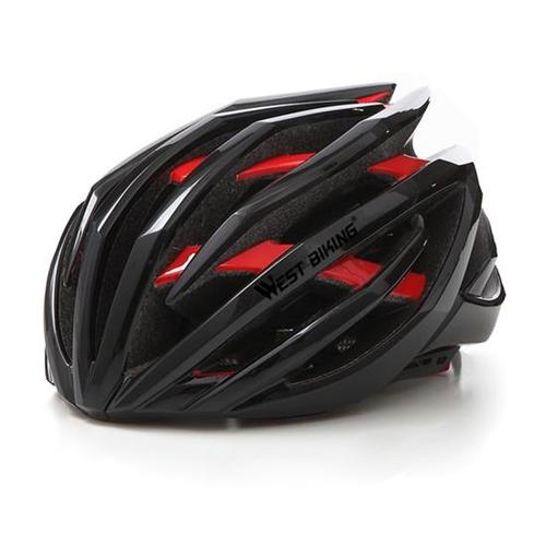 West Biking 8048A Lightweight Multi-layer Bike Helmet-Cycle Helmet-West Biking-Black & Red-PanzerCases