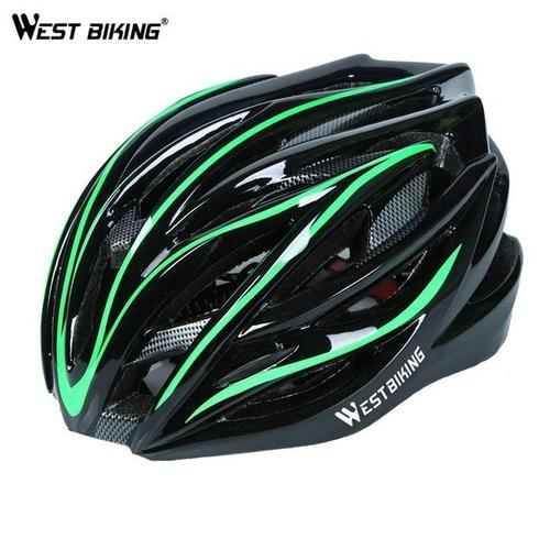 West Biking 8060A Lightweight Breathable MTB & Road Cycling Helmet-Cycle Helmet-West Biking-Green & Black-PanzerCases