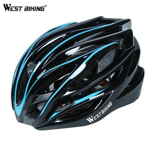 West Biking 8060A Lightweight Breathable MTB & Road Cycling Helmet-Cycle Helmet-West Biking-Blue & Black-PanzerCases