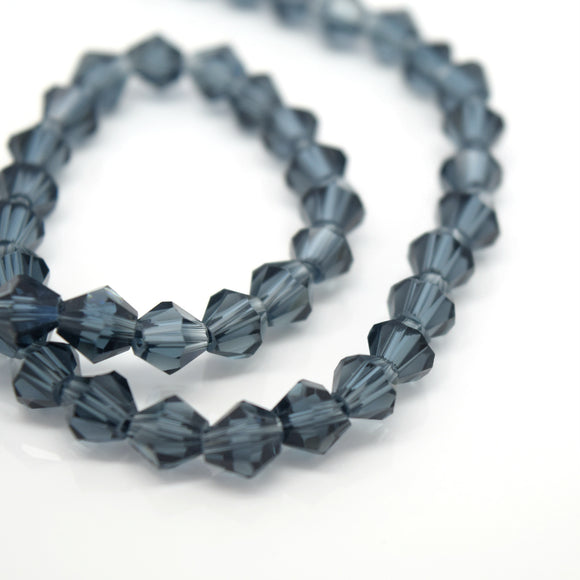 STAR BEADS: FACETED BICONE GLASS BEADS - MONTANA - Bicone Beads