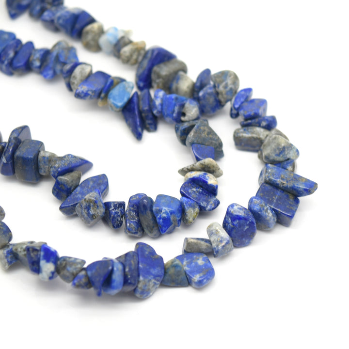 "STAR BEADS: 32-34"" Strand Synthetic Glass Gemstone Beads Chips - Lapis Lazuli - Glass Gemstone Beads"
