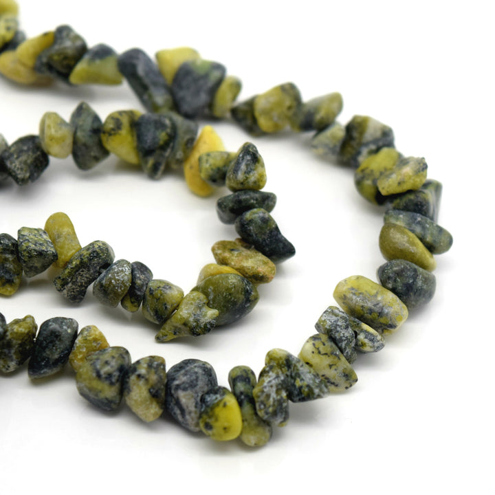 "STAR BEADS: 32-34"" Strand Synthetic Glass Gemstone Beads Chips - Yellow Pine - Glass Gemstone Beads"