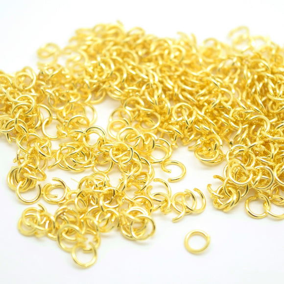 STAR BEADS: Brass Open Jump Rings Gold Plated - Pick Size - Jumprings