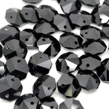 STAR BEADS: OCTAGON GLASS BEADS - PICK COLOUR & SIZE - Octagon Glass Beads