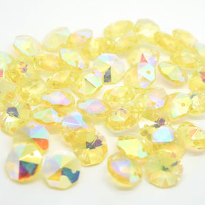 Octagon Glass Beads 14mm - Jonquil AB