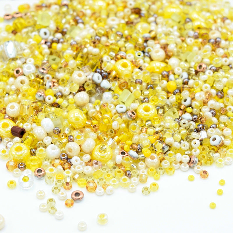 Preciosa Rocailles Czech Glass Seed Beads (40g) - Yellow Mix