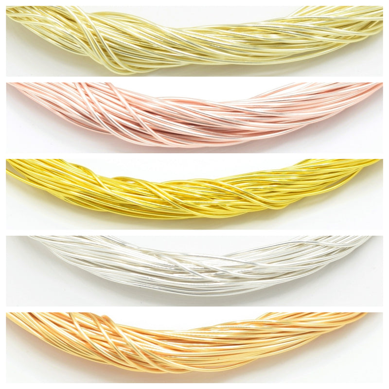 Silver / Gold / Rose Gold Plated Non Tarnish Beading Wire 0.3mm, 0.4mm, 0.5mm, 0.6mm, 0.8mm, 1mm