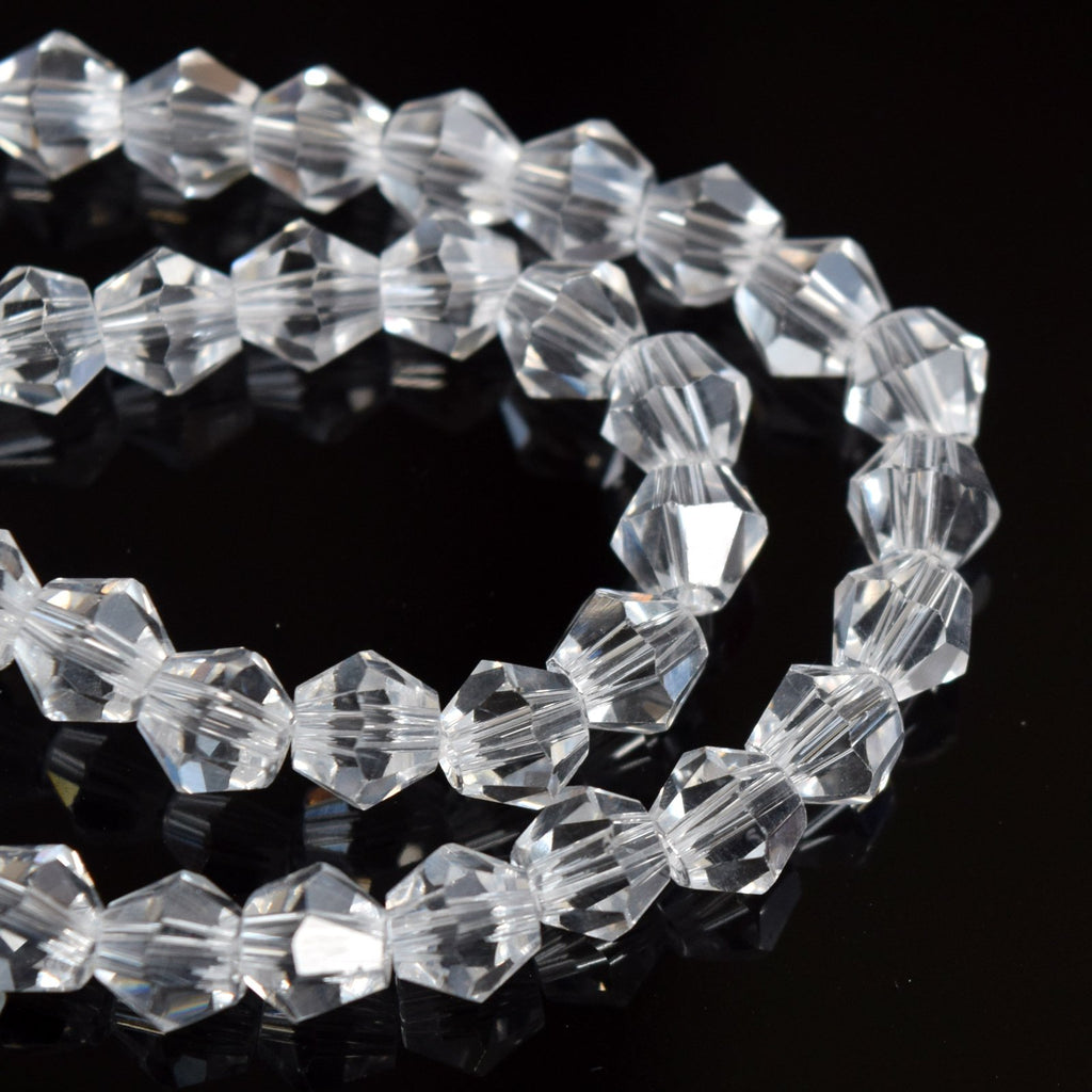 STAR BEADS: FACETED BICONE GLASS BEADS - PICK COLOUR & SIZE - Bicone Beads